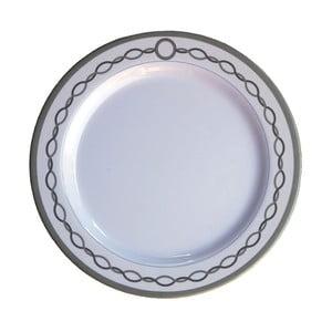 Sada 6 melaminových talířů Sunvibes Chaine, ⌀ 25 cm