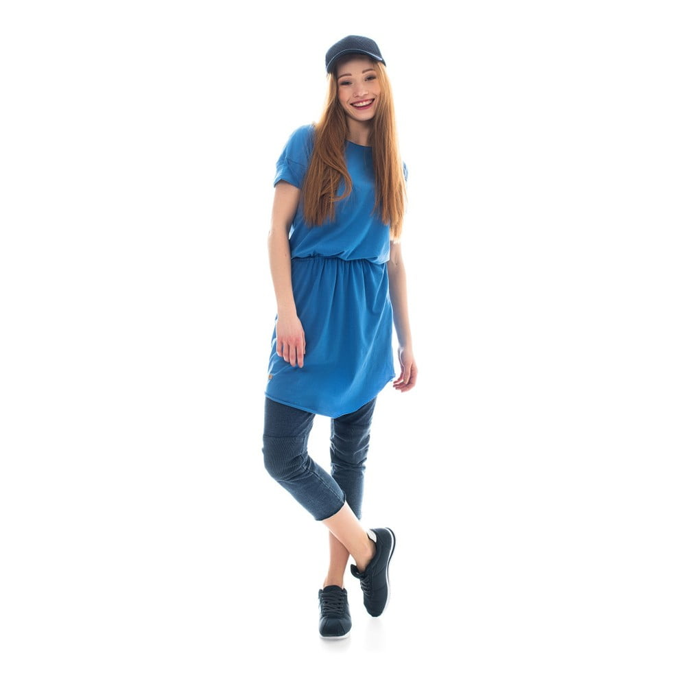 L  Modré bavlněné šaty Lull Loungewear Arona 4d02ad45d9