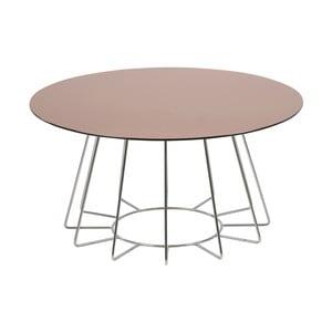 Příruční stolek s deskou ze zrcadlového skla Actona Casia, ⌀80cm