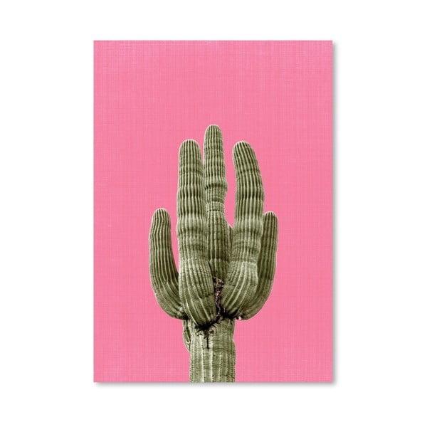 Plakát Cactus On Pink