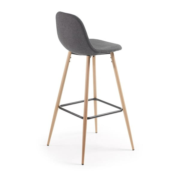 Set 2 scaune bar La Forma Nilson, gri închis