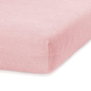 Cearceaf elastic AmeliaHome Ruby, 200 x 140-160 cm, roz deschis
