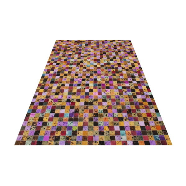 Koberec z pravé kůže Sao Paulo Multi, 140x200 cm