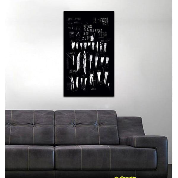 Obraz Black&White Teeth,41x70cm