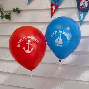 Sada 8 nafukovacích balónků Neviti Ahoy There 1st Birthday