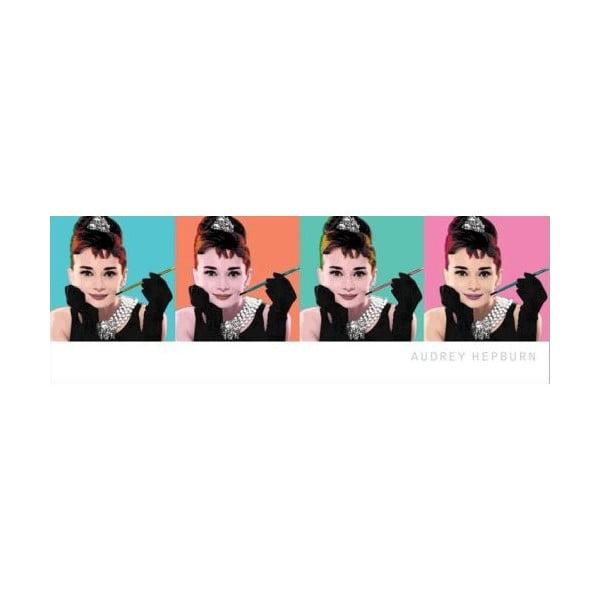 Plakát Audrey PopArt, 30x91 cm
