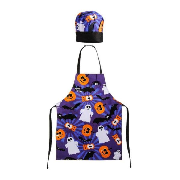 Dětská zástěra s čepicí Halloween