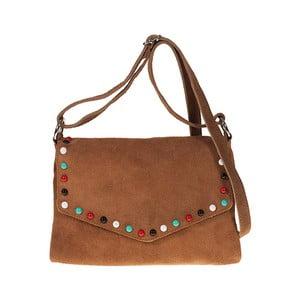 Hnědá kožená kabelka Pitti Bags Amice