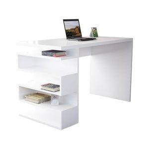 Bílý pracovní stůl Gardo Snake