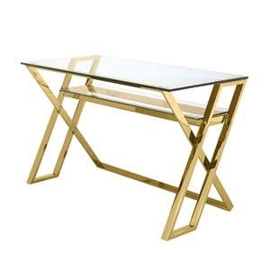 Pracovní stůl ve zlaté barvě Artelore Moss