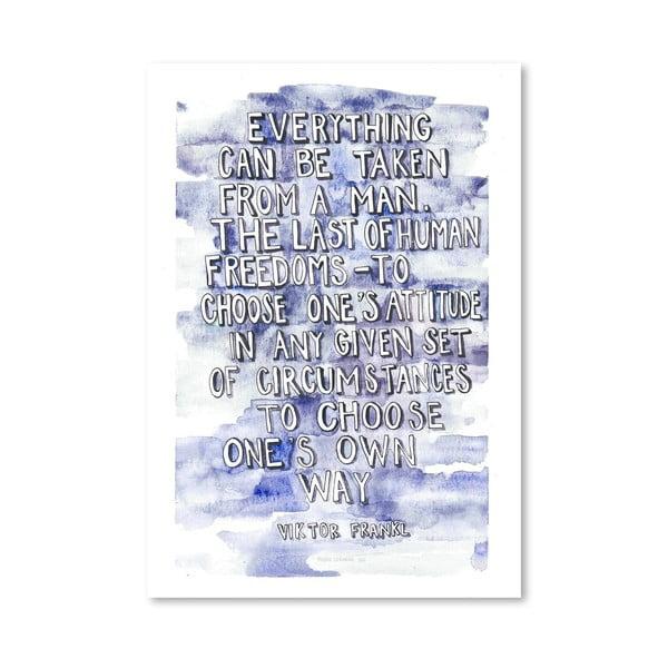 Plakát Viktor Frankl, 30x42 cm