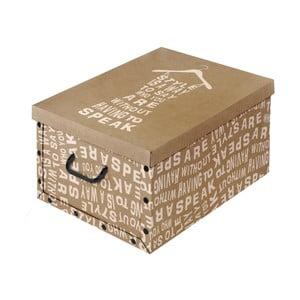 Hnědá úložná krabice Domopak Kraft