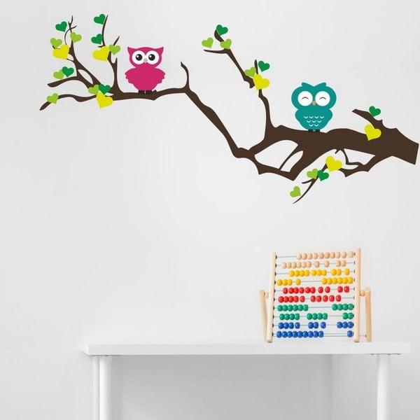 Dekorativní nálepka na stěnu Owl Tree