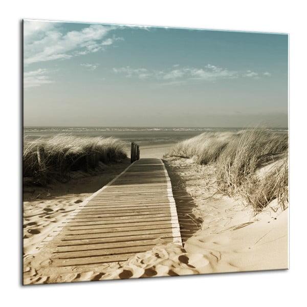 Glasspik Harmony Dunes fali kép, 30 x 30 cm - Styler