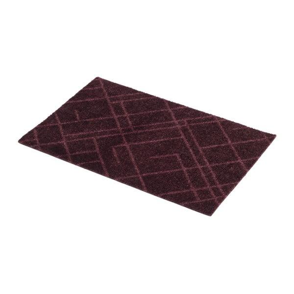 Tmavě vínová rohožka tica copenhagen Lines, 40x60cm