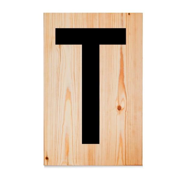 Dřevěná cedule Letters T