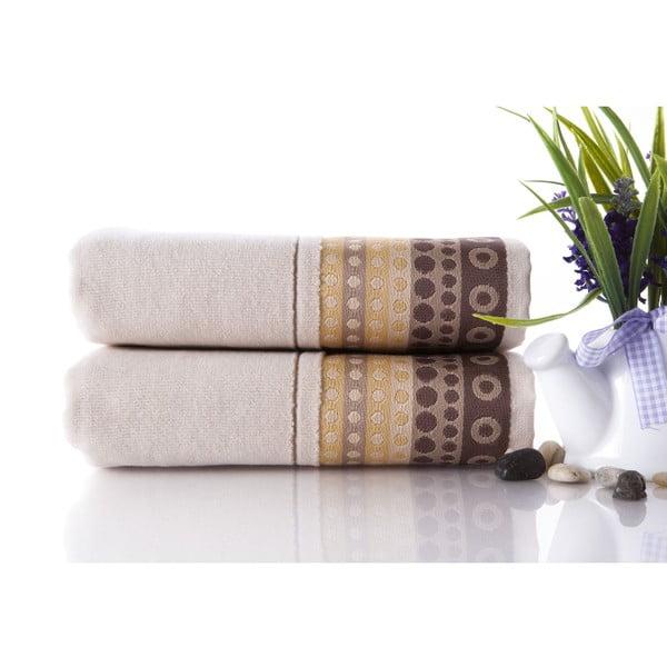 Set dvou ručníků Golf Cream, 50x90 cm