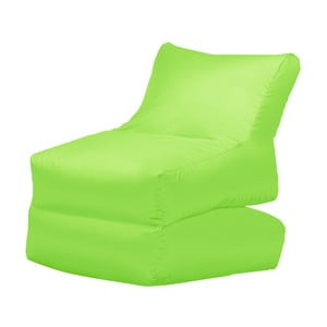 Zelené skládací lehátko Sit and Chill Lato