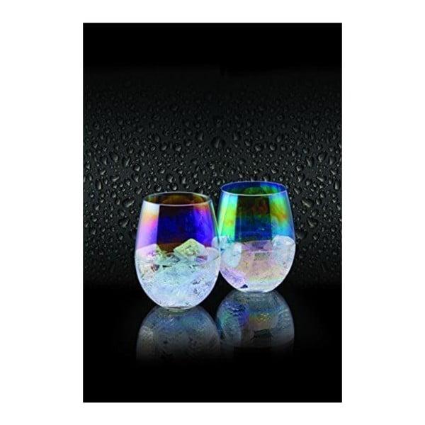 Sada 2 barevných sklenic Kitchen Craft Barman