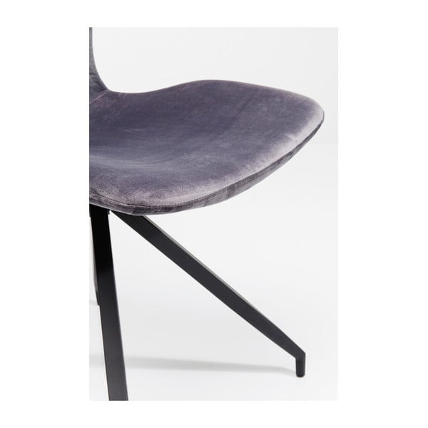 Sada 4 šedých jídelních židlí Kare Design Butterfly