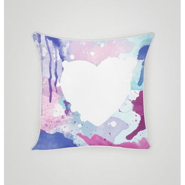 Povlak na polštář Blue Heart I, 45x45 cm