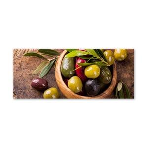 Obraz Styler Glasspik Kitchen Olives I, 30 x 80 cm