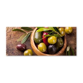 Tablou Styler Glasspik Kitchen Olives I, 30 x 80 cm de la Styler