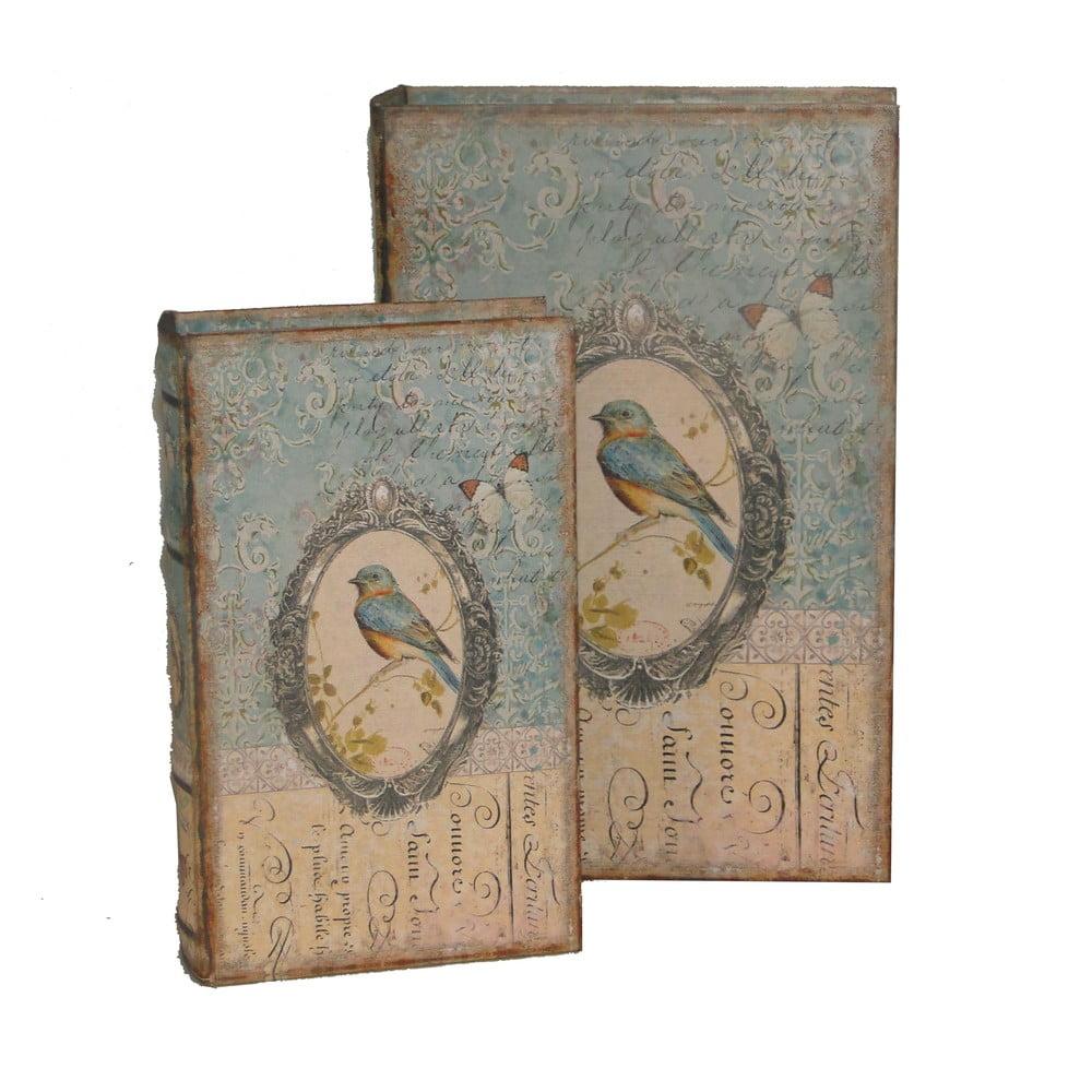 Sada 2 krabiček AnticLineBird Book