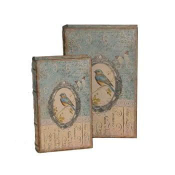 Set 2 cutii Antic Line Bird Book de la Antic Line