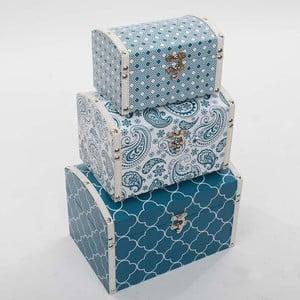 Tři úložné krabice Vůně moře