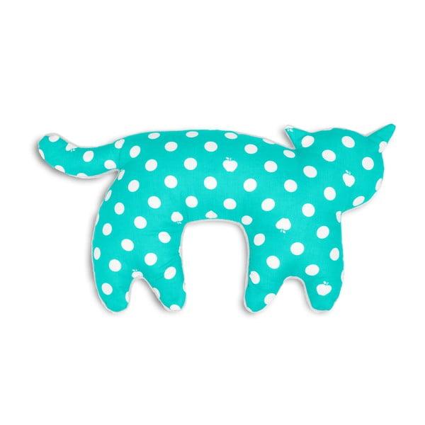 Cestovní polštář za krk Kočka Feline, modré puntíky