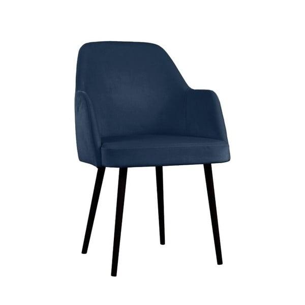 Tmavě modrá jídelní židle JohnsonStyle Lagom French Velvet
