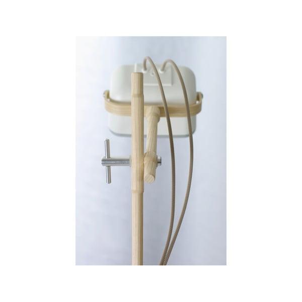 Stolní lampa SwabDesign Mob Wood, bílá