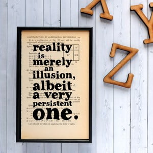 Plakát v dřevěném rámu Einstein Reality