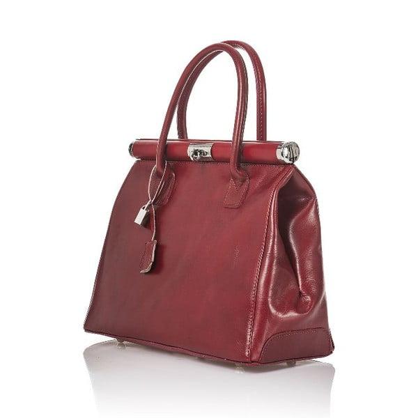 Kožená kabelka Gelso, červená