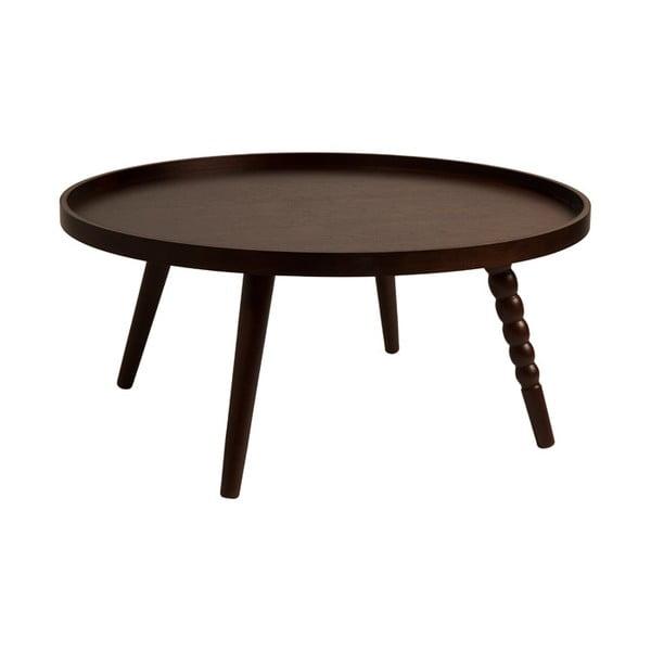 Konferenční stolek v ořechovém dekoru Dutchbone, ⌀ 78 cm