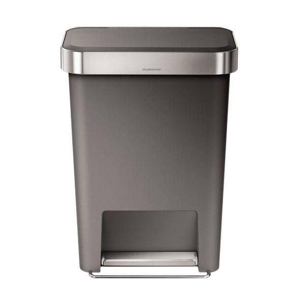 Pedálový koš na odpadky Pocket, 45 l šedý