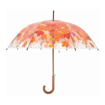 Umbrelă transparentă Ambiance Birdcage Fall Leaves, ⌀93cm imagine