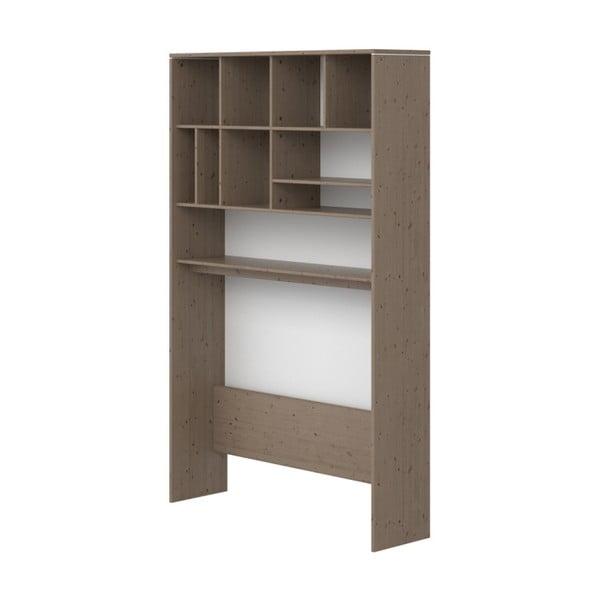 Brązowa szafka dziecięca z drewna sosnowego Flexa Classic, wys. 202,5 cm