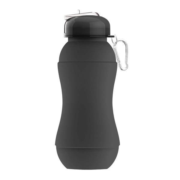 Revoluční sportovní lahev Sili-Squeeze, černá, 700 ml