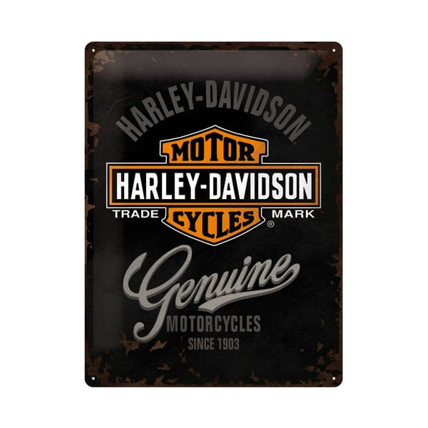 Plechová cedule Harley Motorcycles, 30x40 cm