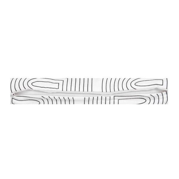 Bílý polštář ETH Retro, 50x30cm