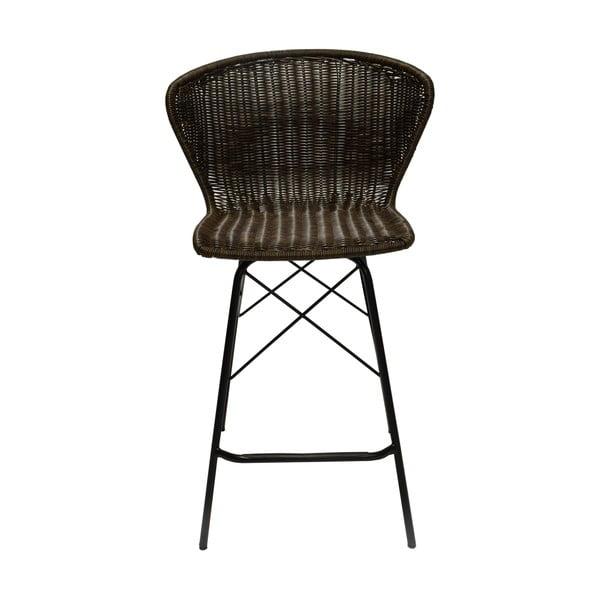 Set 2 barových židlí ze syntetického ratanu RGE Kummin