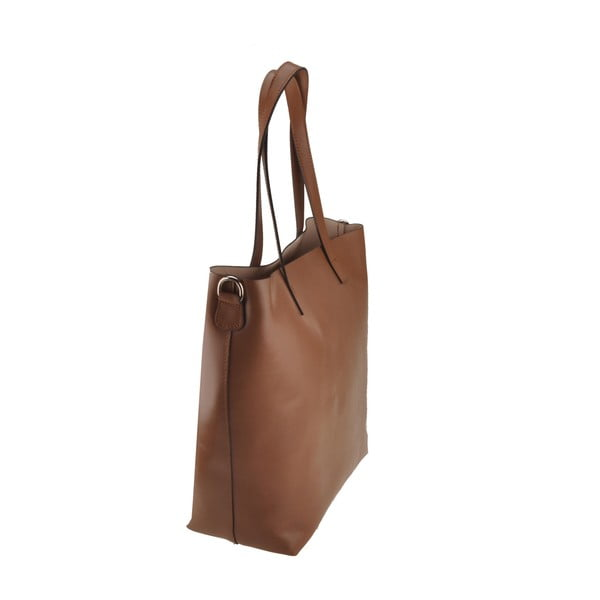Světle hnědá kožená kabelka Florence Tangor