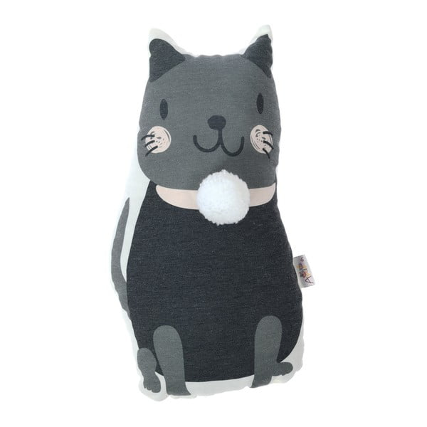 Pernă decorativă Apolena Pillow Toy Black Cat, 17 x 34 cm