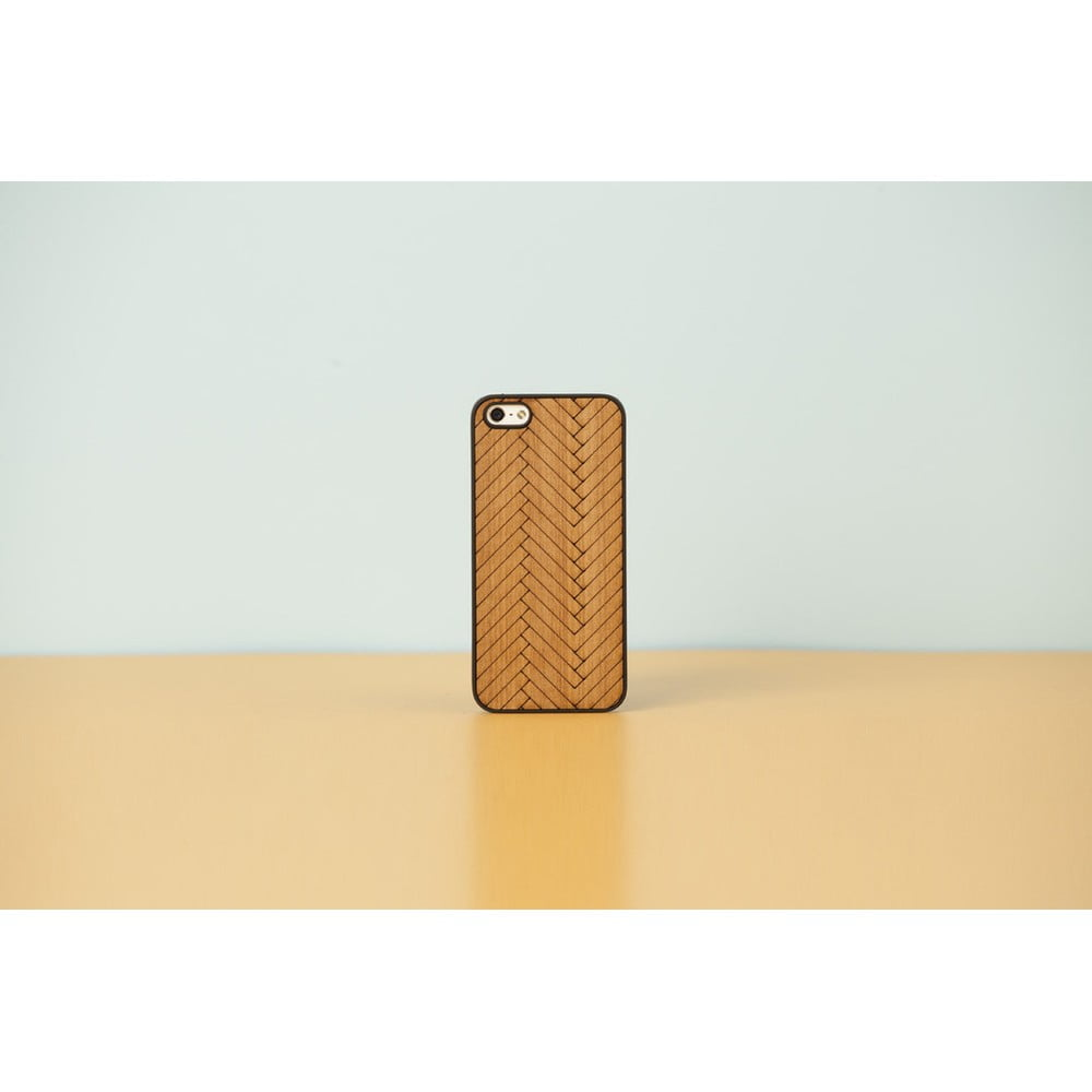 Dřevěný obal na iPhone 5 5S Parquet a774a62bf54