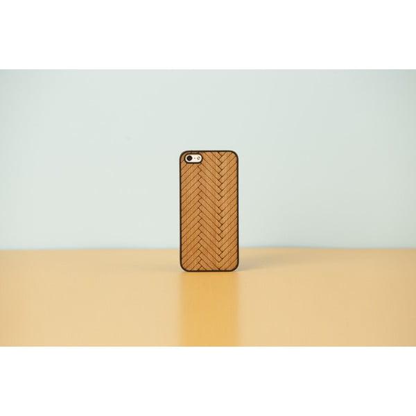 Dřevěný obal na iPhone 4 Parquet, white