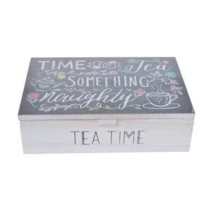 Úložný box na čaj Ewax Tea Time Please, 16x24cm