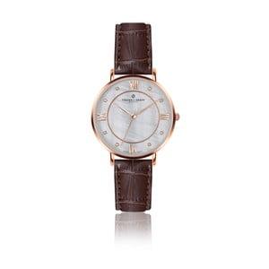 Dámské hodinky s hnědým páskem z pravé kůže Frederic Graff Rose Liskamm Croco Brown Leather