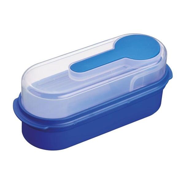 Modrý svačinový box KitchenCraft Coolmovers Rectangular